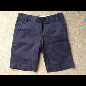 J Crew Size 2 City Fit Navy  Shorts